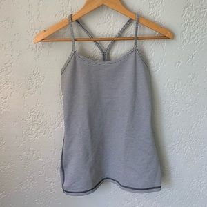 Lululemon Size 4 Power Y Tank Grey Stripe *Luon*